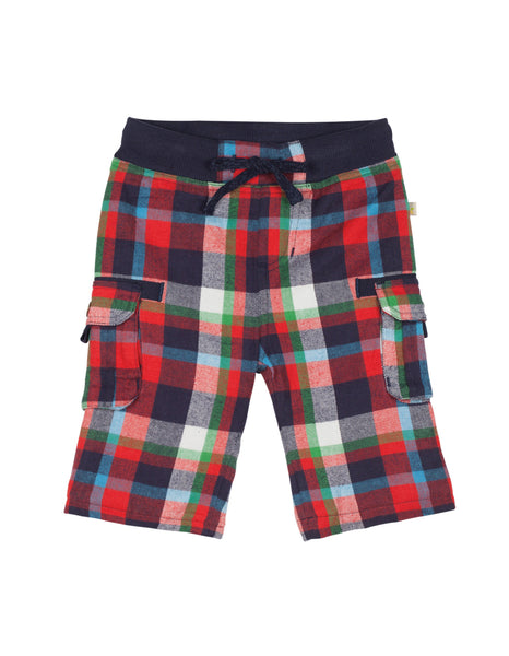 Little Checked Snugs - Tomato Multi-check - Frugi - Jurnie - 1