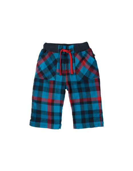 Little Checked Snugs - Harbour Blue Multicheck - Frugi - Jurnie - 1