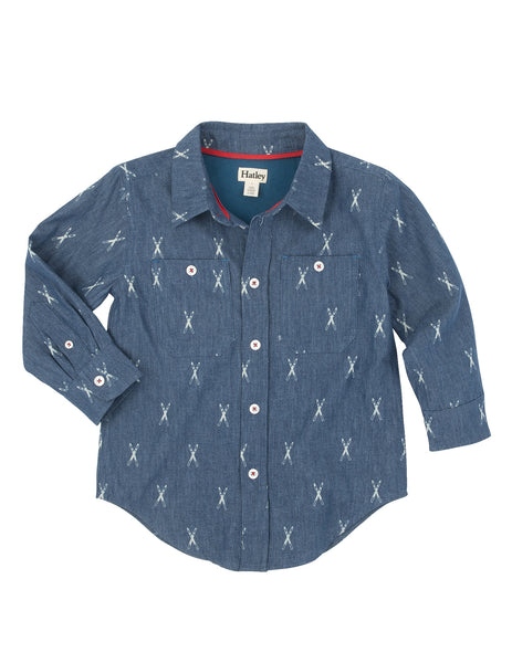 Denim Jersey Lined Oxford Shirt - Hatley - Jurnie