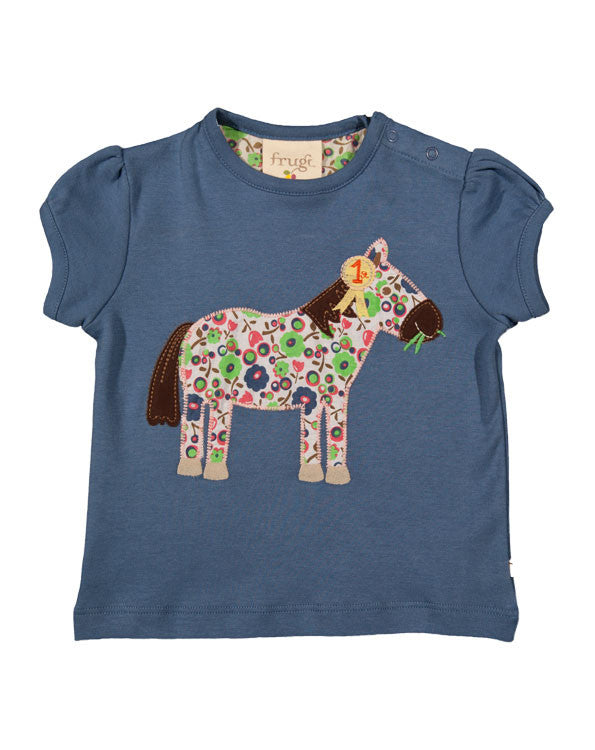 Gathered applique T-shirt - Frugi - Jurnie - 1