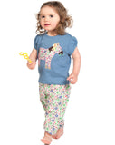 Gathered applique T-shirt - Frugi - Jurnie - 2