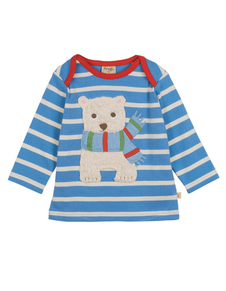 Bobby Applique Top - Bear - Frugi - Jurnie - 1