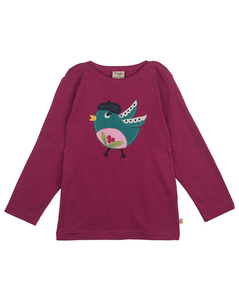 Eliza Applique top - Berry Birdie - Frugi - Jurnie