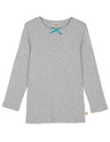 Mia Pointelle Top - Grey Marl - Frugi - Jurnie - 1