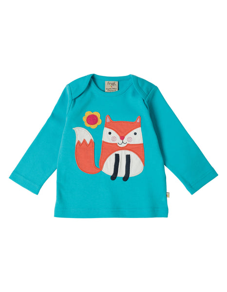 Bobby Applique Top - Fox - Frugi - Jurnie - 1