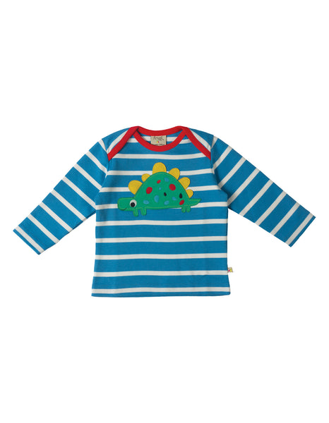 Bobby Applique Top - Dino - Frugi - Jurnie - 1