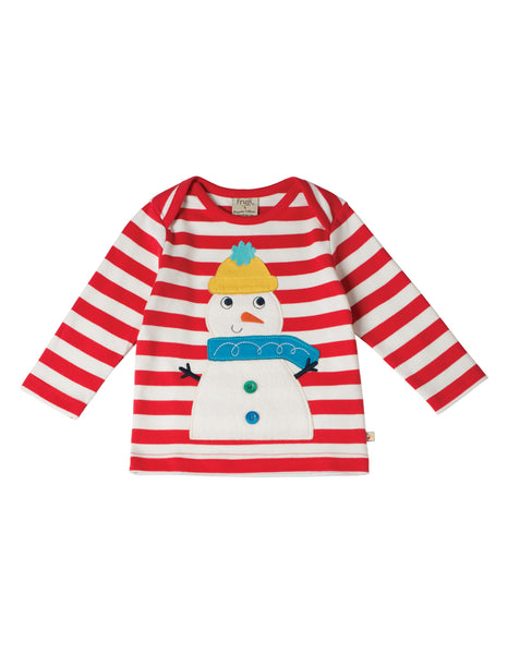 Bobby Applique top - Snowman - Frugi - Jurnie - 1