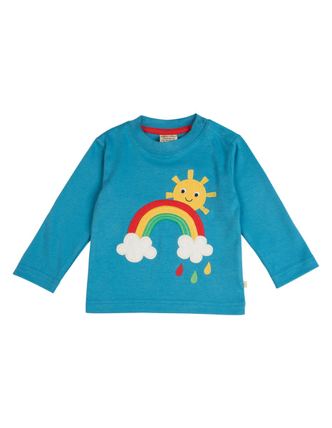 Little Discovery Applique Top - Rainbow - Frugi - Jurnie - 1
