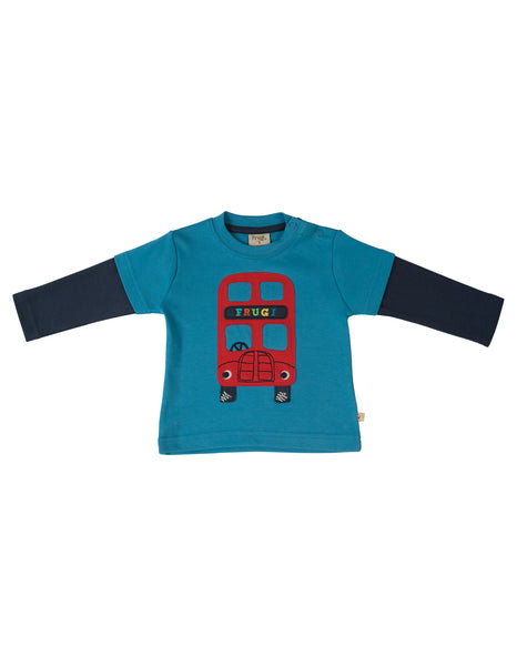 Little Look-Out Top - Bus - Frugi - Jurnie - 1