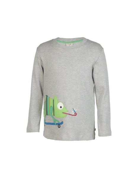 Joe Applique Top - Gecko - Frugi - Jurnie - 1
