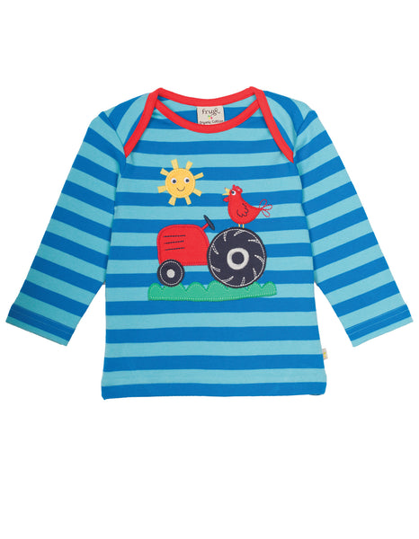 Bobby Applique top - Tractor - Frugi - Jurnie - 1