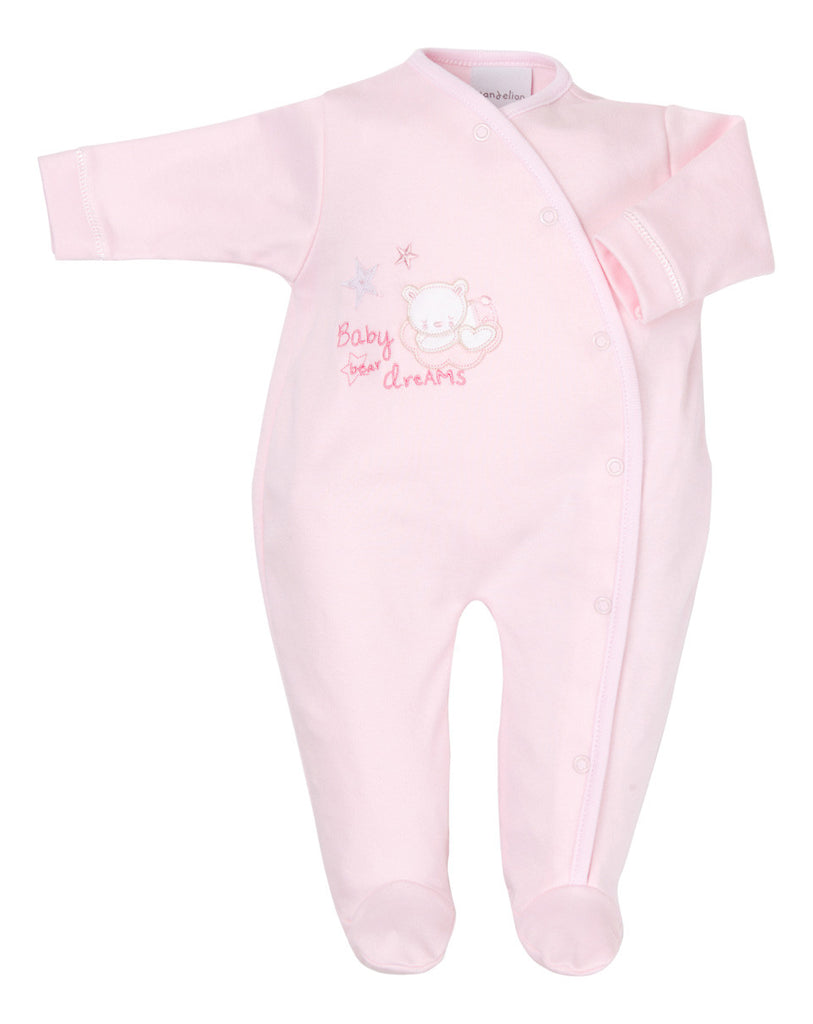 Tiny Bear Side Open Sleepsuit - Premmie/Tiny Baby (Pink) - Dandelion - Jurnie