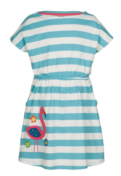 Bryher Boat Neck Dress - Flamingo - Frugi - Jurnie - 1