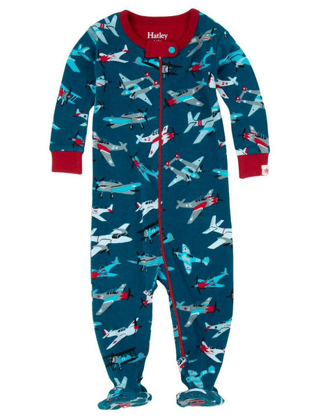 Fighter Planes Footed Coverall - Hatley - Jurnie