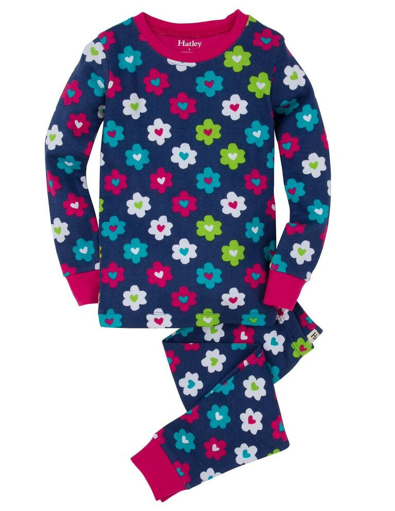 Flower Hearts PJ Set - Hatley - Jurnie