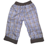 Reversible Trousers - Blue/Brown cotton check - Ruth Lednik - Jurnie - 3