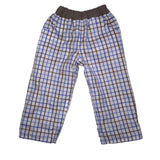 Reversible Trousers - Blue/Brown cotton check - Ruth Lednik - Jurnie - 4