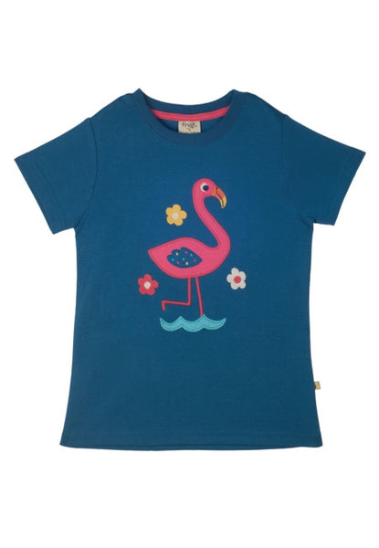 Gwenver Applique T-shirt - Flamingo - Frugi - Jurnie - 1