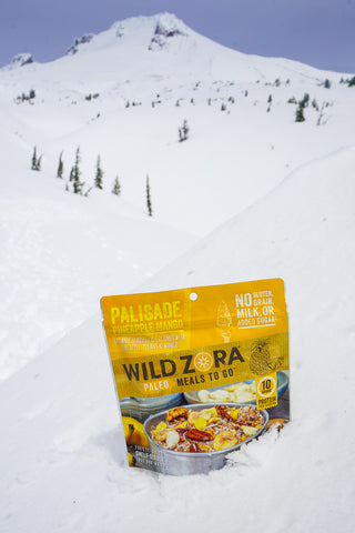 Palisade pineapple mango paleo gluten free breakfast meal in snow