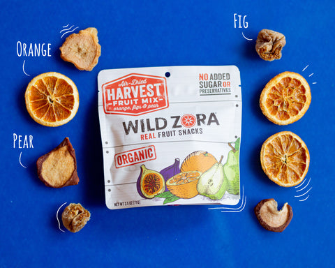 harvest dried fruit packaging and fruit