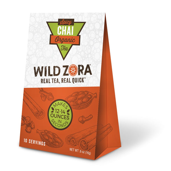 Wild Zora - Real Tea, Real Quick - Organic Spicy Chai Tea