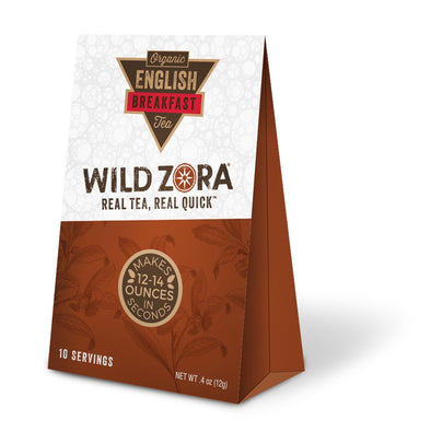 Wild Zora - Real Tea, Real Quick - Organic English Breakfast Tea