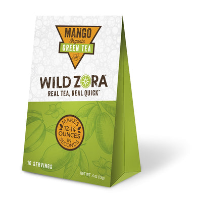 Wild Zora - Real Tea, Real Quick - Organic Mango Green Tea