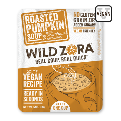 New! Vegan Soups - Roasted Pumpkin with Coconut Cream & Cinnamon