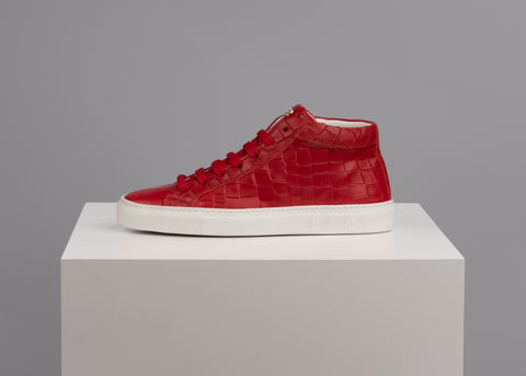 Tuscany High Top croco super red white