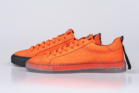 Neon Croco Orange Transparent/Black