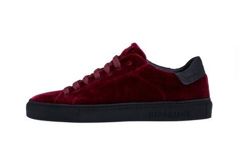 Low Top Sneaker - Velvet Bordeaux Black