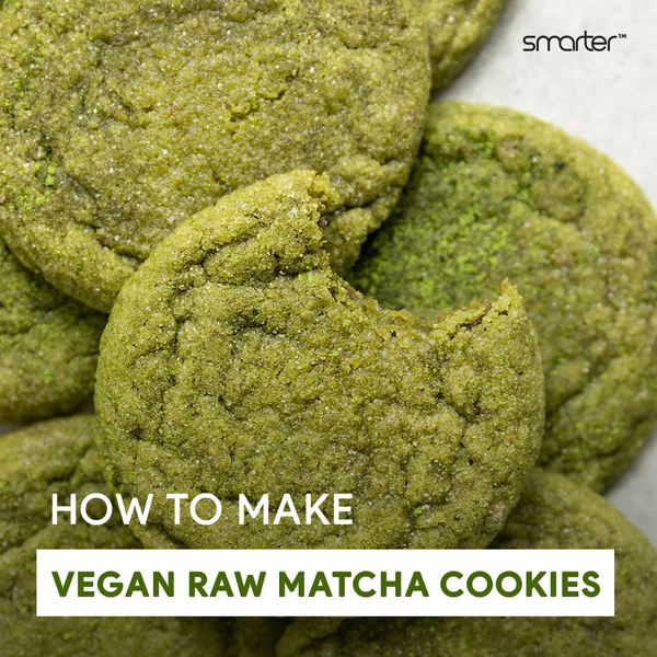 How to make vegan raw matcha cookies