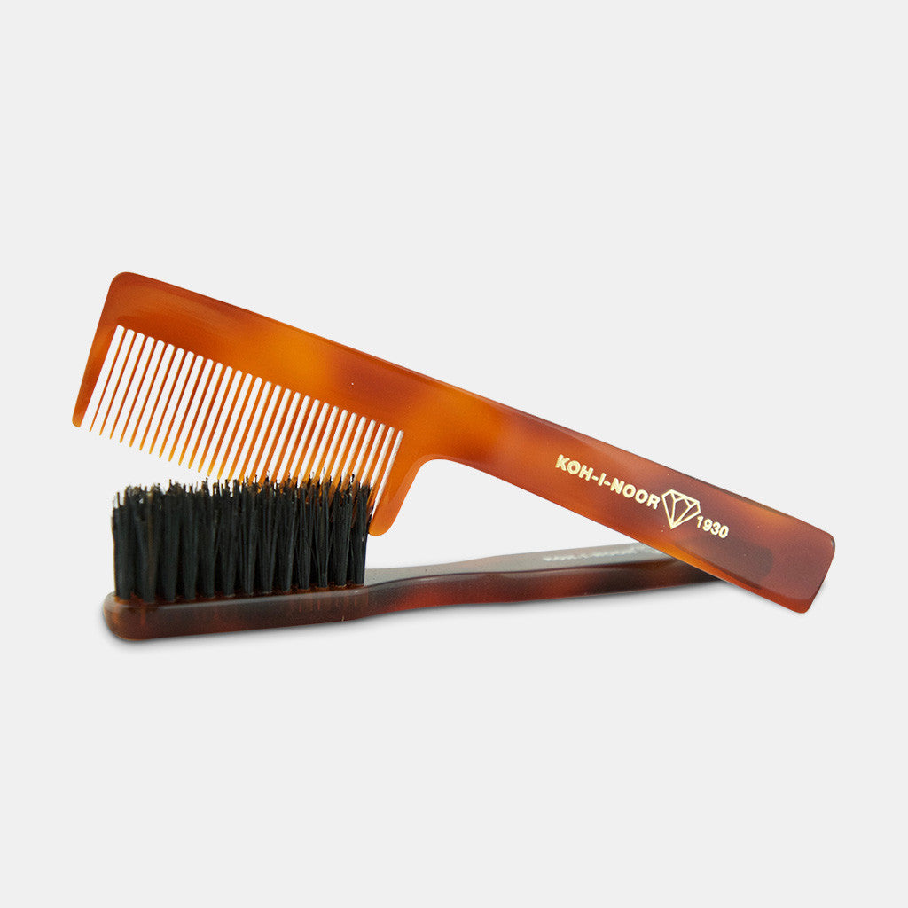 Beard and Moustache Brush and Comb Combo