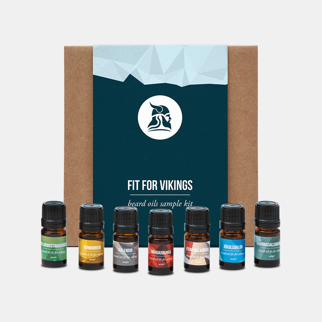 Beard Oils Sample Kit - Fit for Vikings