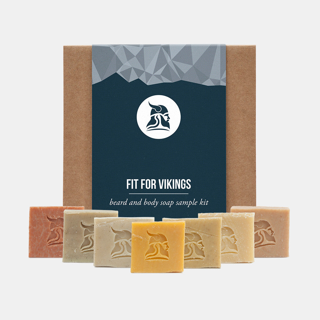 Beard and Body Beer Soap Sample Kit - Fit for Vikings