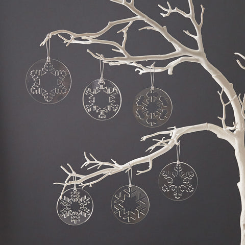 Bauble Christmas Decorations Set of Six