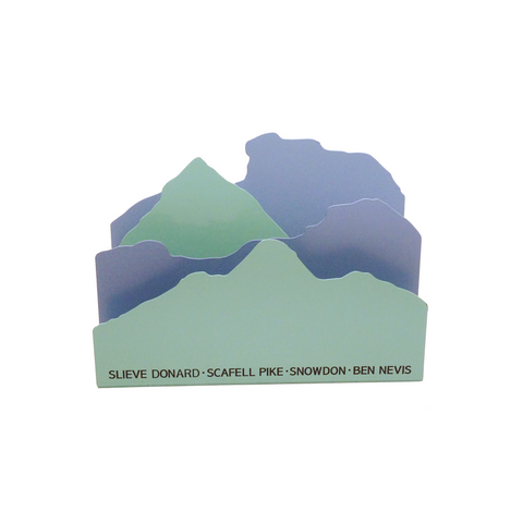 UK Peaks Letter Rack<br>Blue/Green