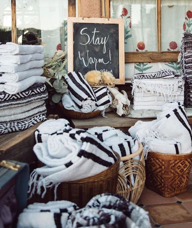 gunn swain mexican blankets are perfect for bridal showers bridesmaid gifts and groomsmen gifts people also love using these in welcome baskets for out