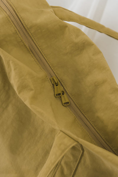 Mustard Yellow Nylon Tote Bag