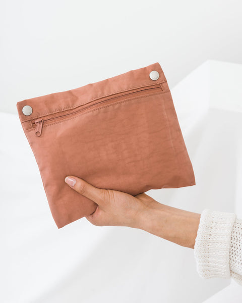 Terracotta Nylon Tote Bag