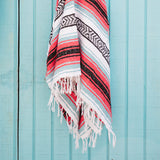 THE SIREN: SEA FOAM/TURQUOISE/MINT, PINK, BLACK & WHITE MEXICAN BEACH BLANKET