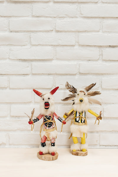 Yellow Owl Native American Kachina Doll