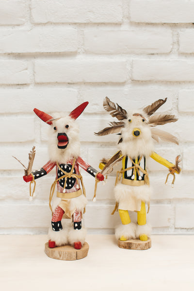 Red Wolf Dancer Native American Kachina Doll