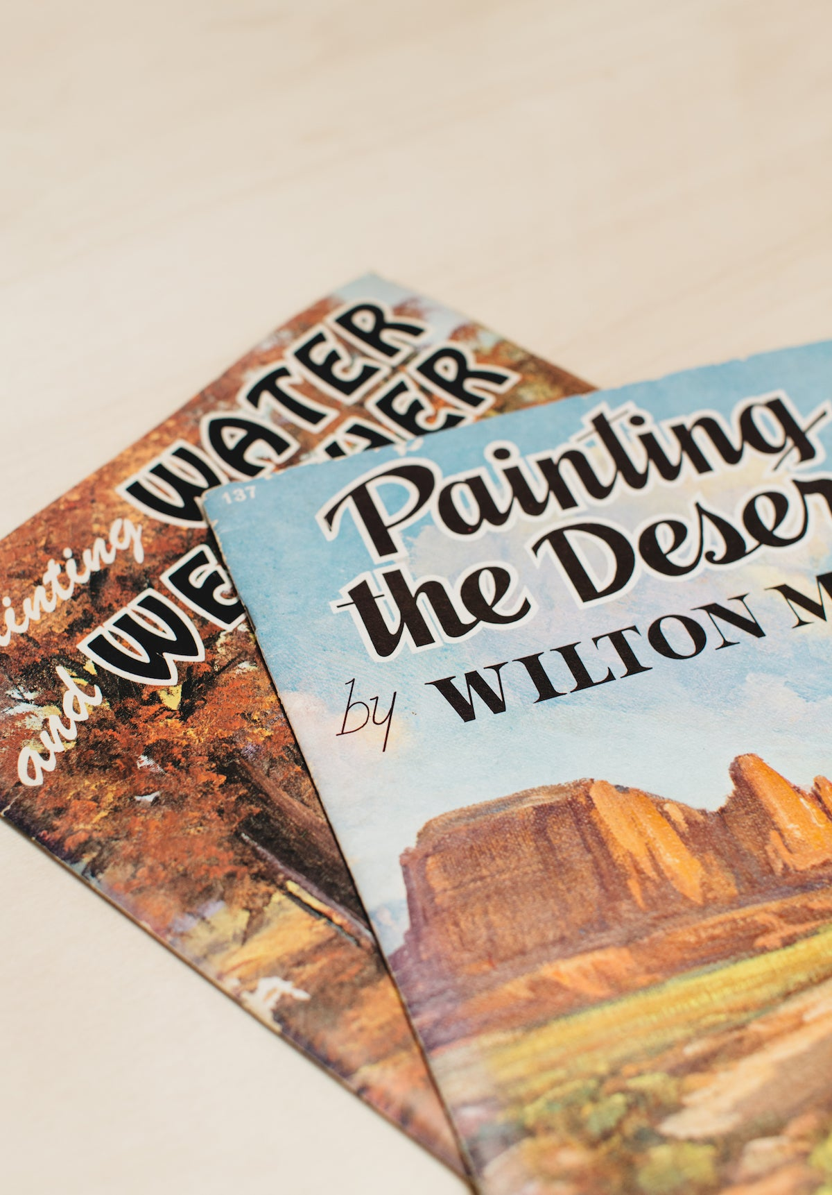 Vintage Book | Oversized Painting Tutorial Book | Water + Weather