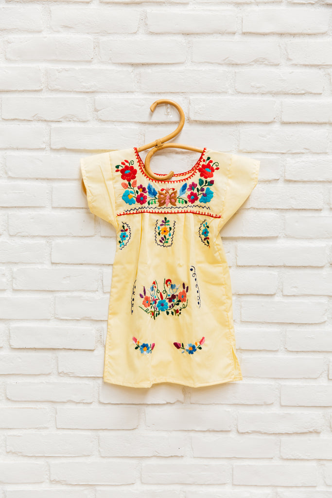 5d2f83ddedc The Amorcito Dress  Bright Colored Mexican Children s Dress