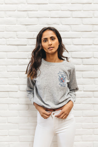 Vintage Super Soft Heather Grey Boca Raton Hotel & Club Sweatshirt