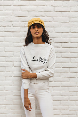 Vintage Super Soft White San Diego Sweatshirt