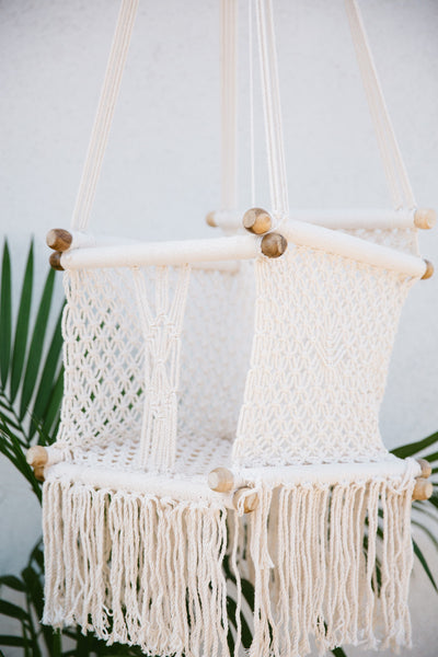 Crochet & Fringe Detailed Hammock Baby Swing