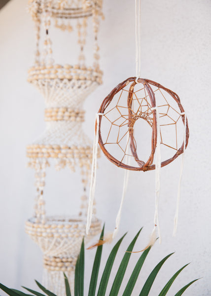 LARGE AUTHENTIC NATIVE AMERICAN-MADE DREAMCATCHER