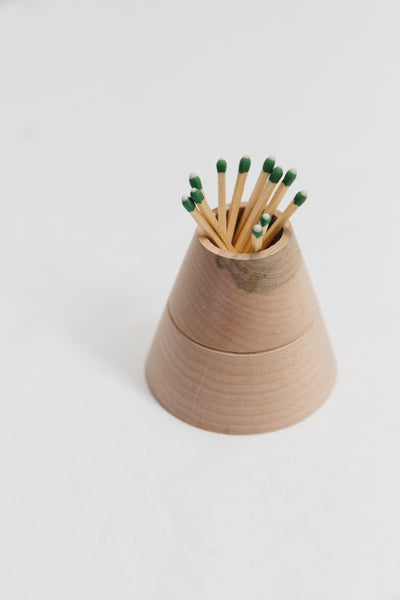 RAEL MADE Wood Matchstick Holder
